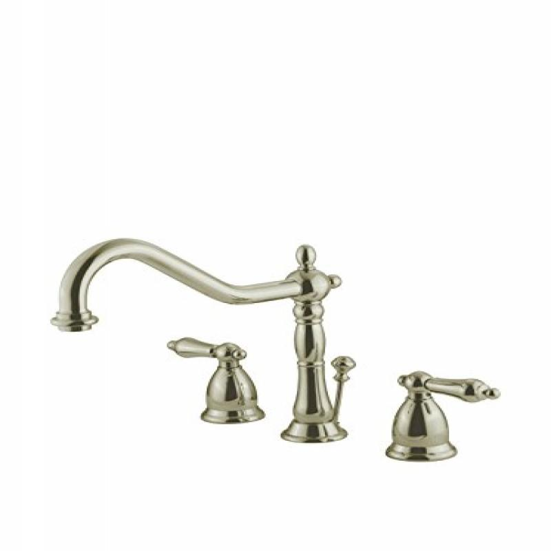 Kingston Brass GKS1998AL Heritage Widespread Lavatory Faucet with Brass Pop-Up, Satin Nickel - image 1 de 1