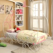 Furniture of America Charmante Carriage Bed