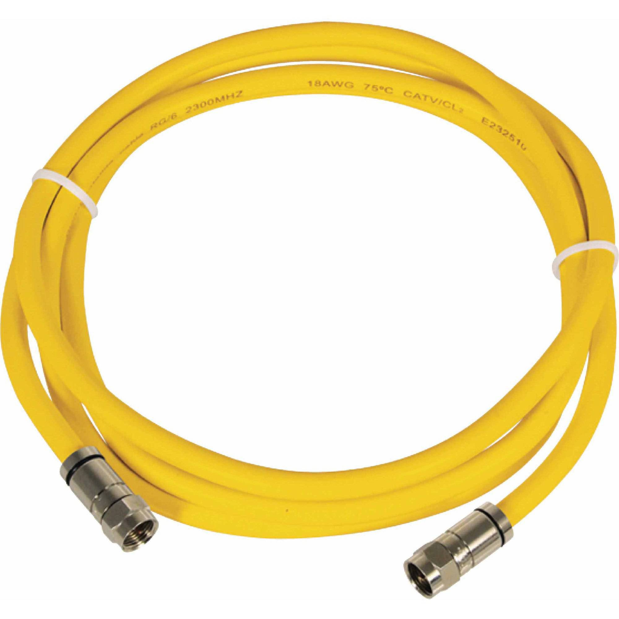 Marinco TVHD HDTV/Internet Cable 50', Yellow