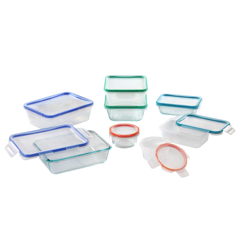 Snapware 1116075 Total Solutions 16-pc Glass & Plastic Storage Set ...