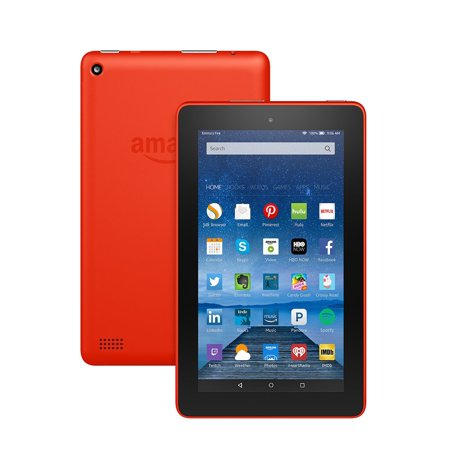 Fire Tablet  7  Display  Wi Fi  8 Gb   Includes Special Offers  Tangerine