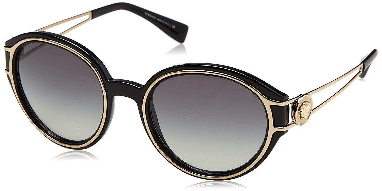 Versace 4342 GB1//11 53 Black  Gold Gray Gradient Sunglasses Sale