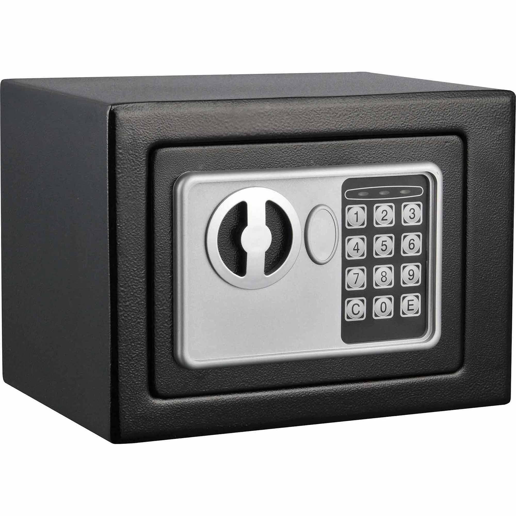 Stalwart Electronic Deluxe Digital Steel Safe, Black