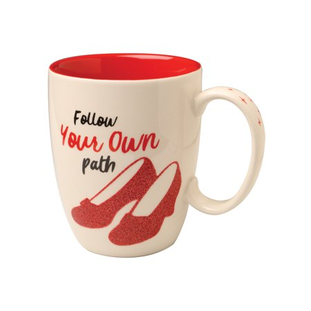 Wizard Of Oz Ruby Slippers (Enesco Wizard of Oz Follow Your Own Path Stoneware Mug - White Coffee Cup with Ruby Slipper)