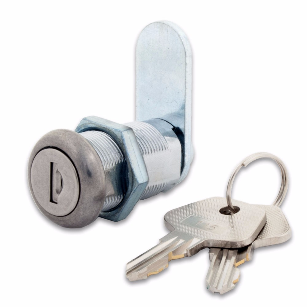 "Dust Shutter Cam Lock With 1-1/8"" Cylinder - 5 Pack"