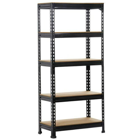 Heavy Duty Adjustable Shelf Garage Steel Metal Storage 5 Level Metal Storage Rack Adjustable Van Shelving