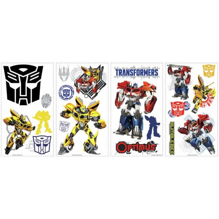 TRANSFORMERS AUTOBOTS Optimus Prime Bumblebee 20 Peel & Stick Wall Decals Decor ()