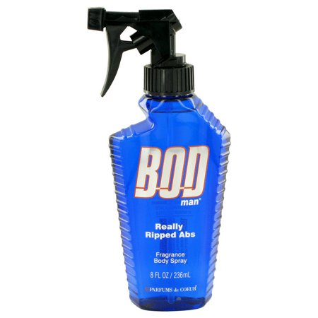 Parfums De Coeur Bod Man Really Ripped Abs Fragrance Body Spray for Men 8 oz Brass Contemporary Body Spray