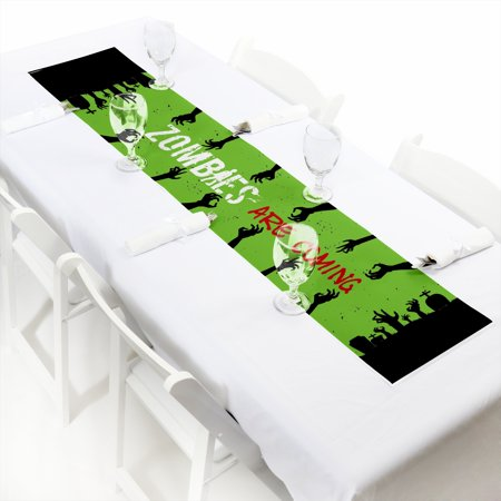 Zombie Zone - Petite Halloween or Birthday Zombie Crawl Party Paper Table Runner - 12