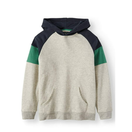 - Pull Over Retro Color Block Hoodie with Kangroo Pocket (Big Boys)