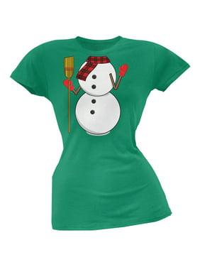 ec6827b6ad243 Product Image Snowman Body Costume Green Soft Juniors T-Shirt