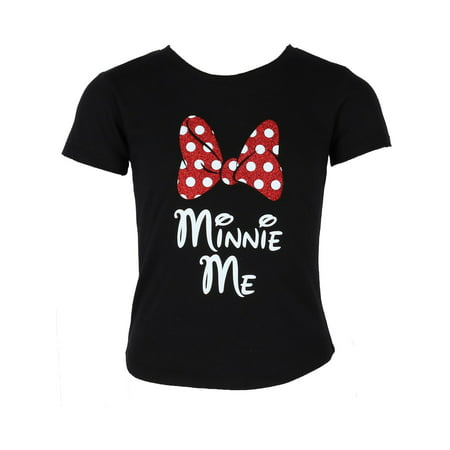 Girls Minnie Mouse Glitter Bow Tee Shirt for $<!---->