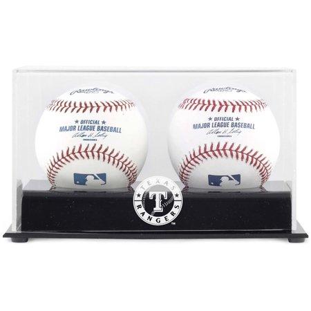 Texas Rangers Two Baseball Cube Logo Display Case