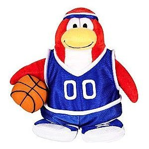 9' Plush Player - Disney Club Penguin 6.5 Inch Series 3 Plush Figure Basketball Player (Includes Coin with Code!) by, By Jakks Pacific