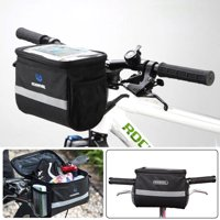 Waterproof Bicycle Bike Front Storage Bag with Touchscreen Transparent PVC Pouch for Smartphone Holder