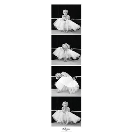 Marilyn Monroe Ballerina Vertical Sequence Hollywood Glamour Celebrity Actress Photo Poster - 12x36 inch