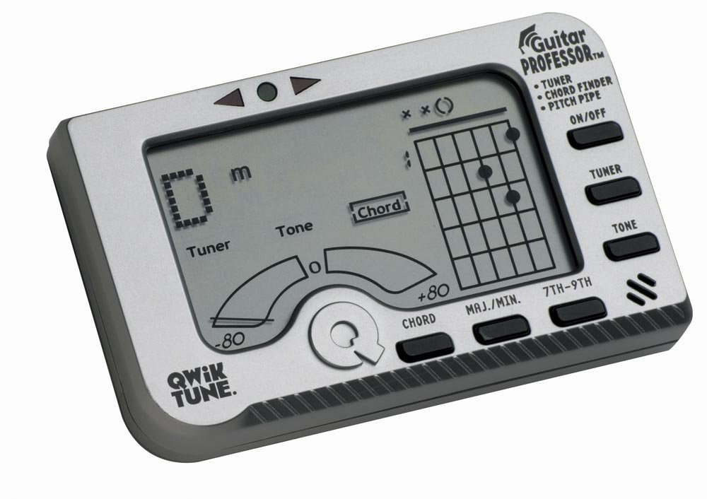 Qwik Tune GP1 Guitar Professor Guitar Tuner, Highly accurate By Qwiktime by