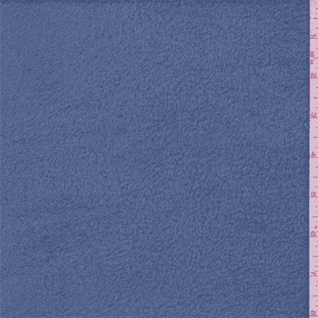 Steel Blue Polyester Fleece, Fabric By the Yard (The Steel Yard)