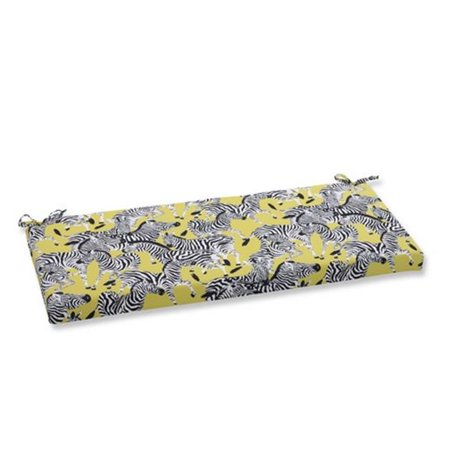 Indoor-Outdoor Herd Together Wasabi Bench Cushion, Yellow ()