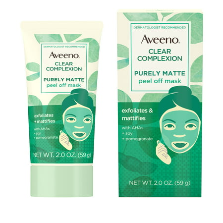 Aveeno Clear Complexion Pure Matte Peel Off Face Mask, 2.0 (Best Pore Peel Off Mask)