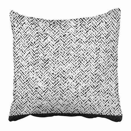 ECCOT Herringbone Tweed Wool Monochrome Hipster Stylish Ripple Grunge Abstract Pillowcase Pillow Cover 20x20 inch