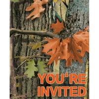 hunting camo invitation (8) invites party supplies