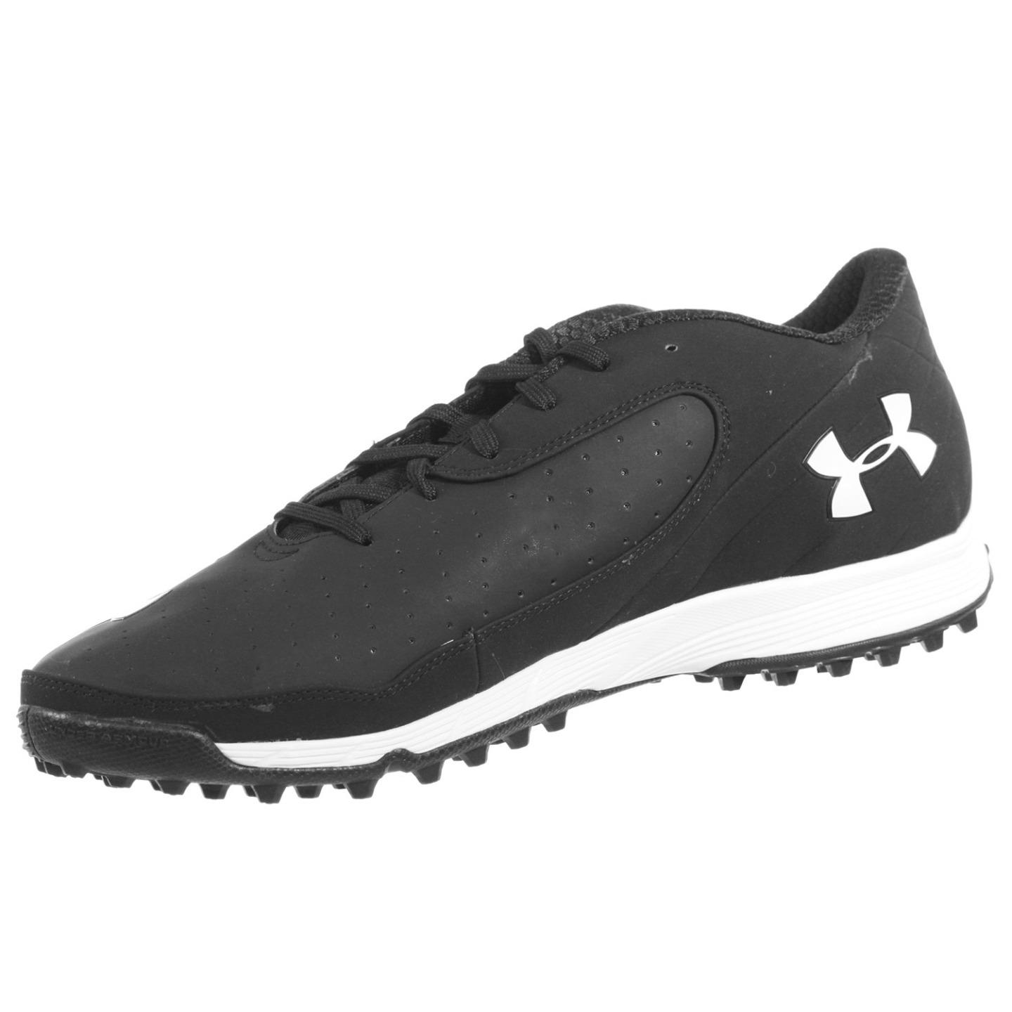 UNDER ARMOUR MENS ATHLETIC SHOES TEAM NITRO ICON LOW TF BLACK WHITE 13.5 M