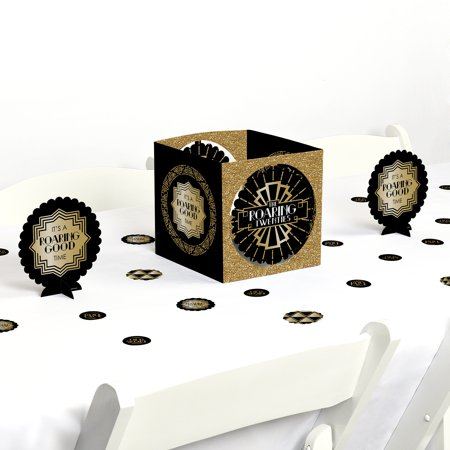 Roaring 20's - 1920s Art Deco Jazz Party Centerpiece & Table Decoration Kit - Roaring 20s Centerpieces