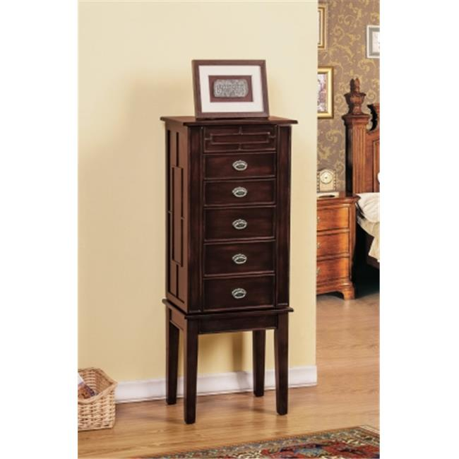 CTE Trading SW1121-SM-BR 5 Drawer Jewelry Armoire - Brown