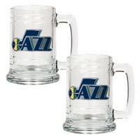 Great American NBA 15 oz. Logo Glass Tankard Set