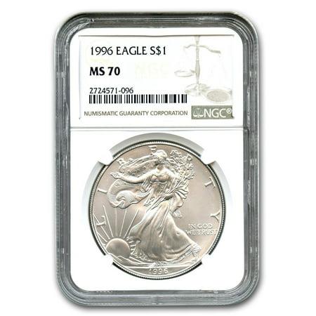 Platinum Ngc Coin Set - 1996 Silver American Eagle MS-70 NGC (Registry Set)