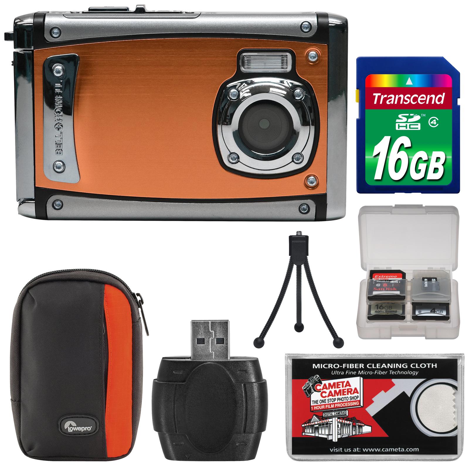 Bell & Howell Splash3 WP20 HD Shock & Waterproof Digital Camera (Blue) with 16GB Card + Case + Reader + Tripod + Kit