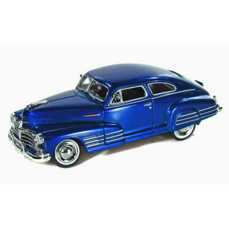 1948 Chevy Aerosedan Fleetline, Blue - Motormax Premium American 73266 - 1/24 Scale Diecast Model - 1948 Chevy Car