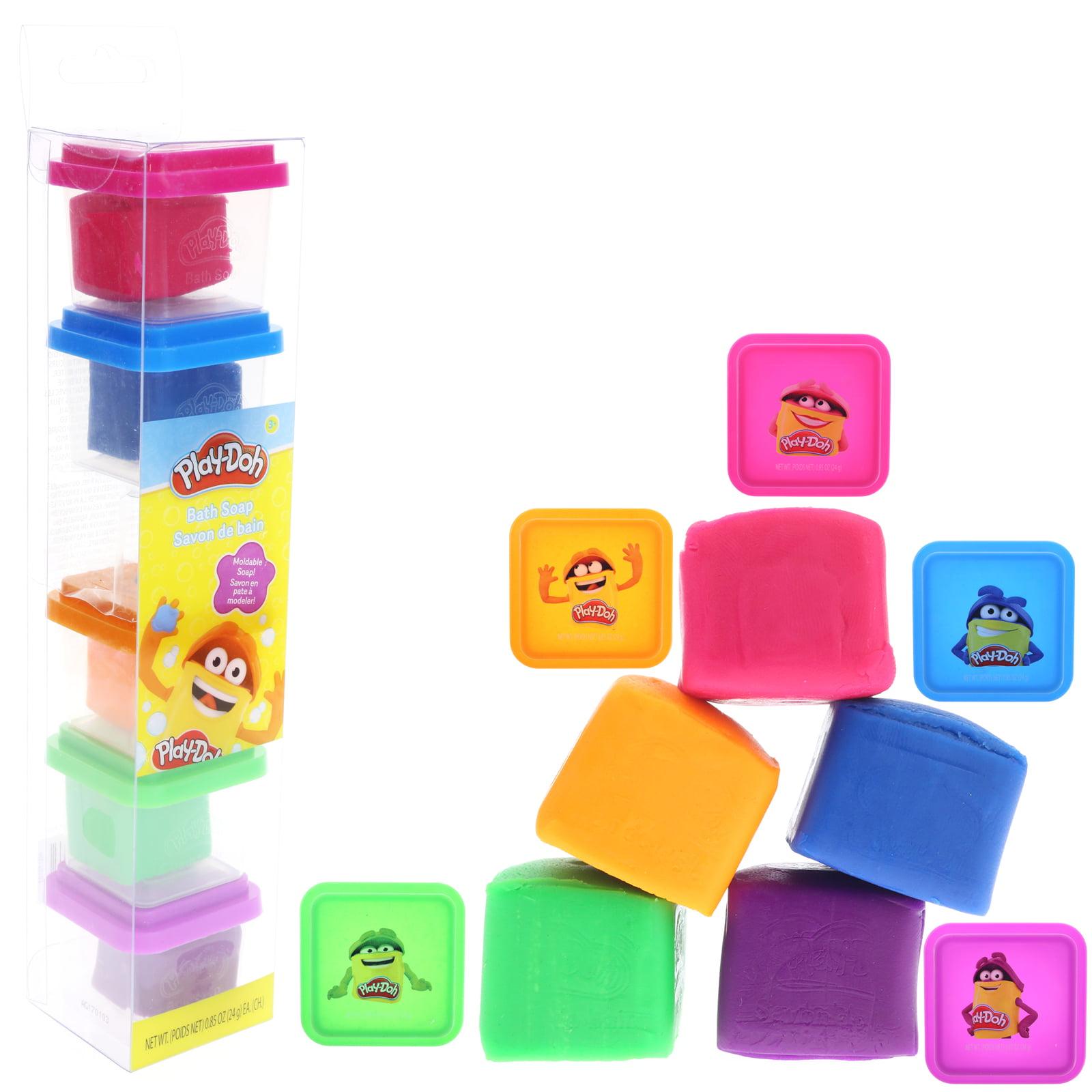 Townley Girl Play-Doh Bath Soap for Kids, 5 Fabulous Colors of Moldable Soap, 0.85 ounces each