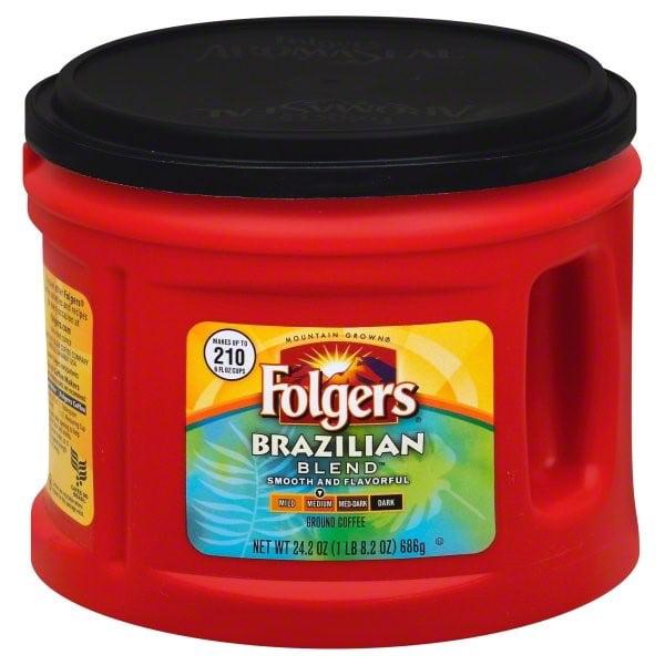 Folgers Brazilian Blend Ground Coffee, 24.2 Ounces