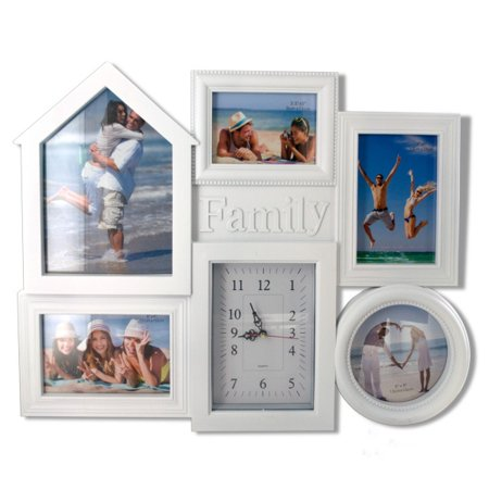 Family Collage Photo Frame with Clock (Lot of 2) - Walmart.com