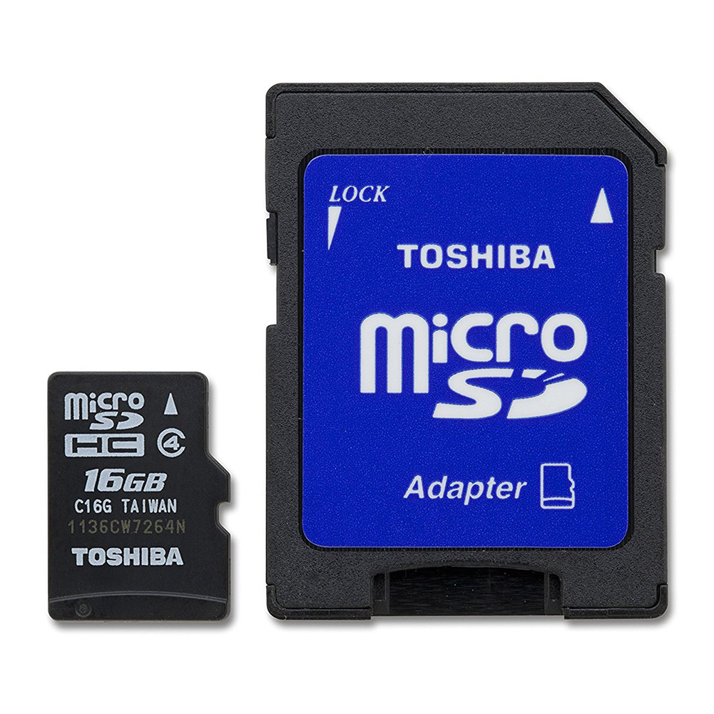 Toshiba 16GB microSD Memory Card with Standard Adapter
