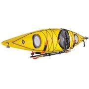 Wall-Mounted Kayak Storage Rack with Paddle Hooks