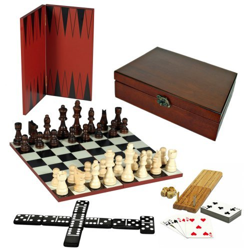 WE Games 7-in-1 Combination Game Set