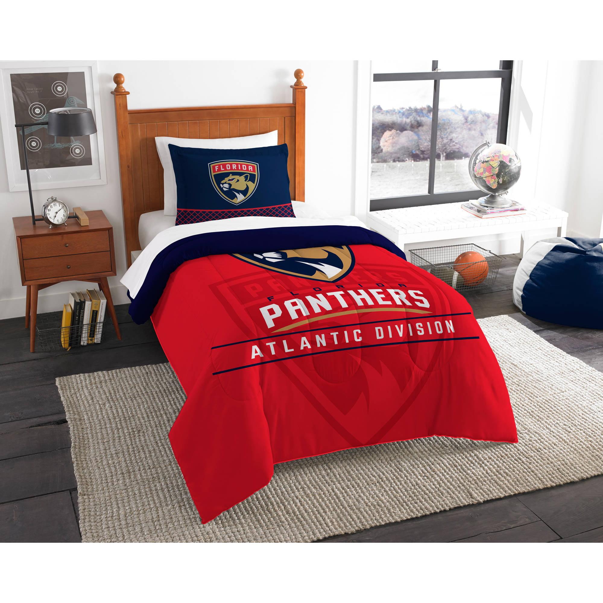 """nhl florida panthers """"draft"""" bedding comforter set - walmart"""