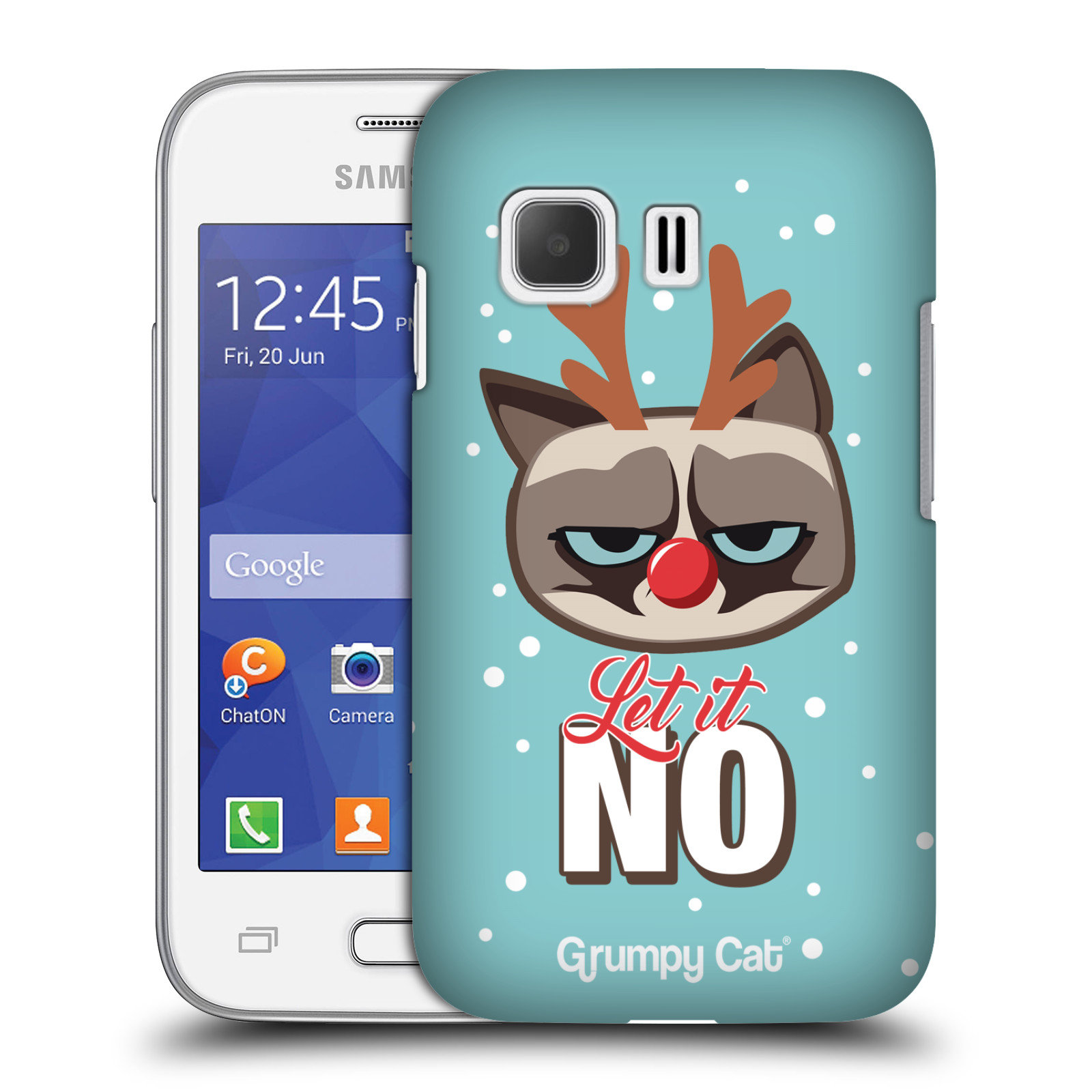 OFFICIAL GRUMPY CAT GRUMPMOJI CHRISTMAS HARD BACK CASE FOR SAMSUNG PHONES 3