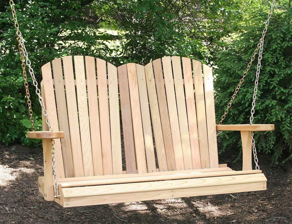 Cedar Adirondack Porch Swing