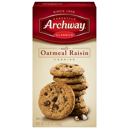 Oatmeal Raisin Walnut - (2 Pack) Archway Oatmeal Raisin Classic Cookies, 9.25 Oz