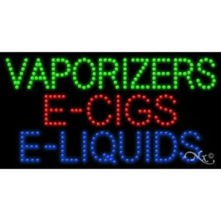 Vaporizers E Cigs E Liquids LED Sign (High Impact, Energy