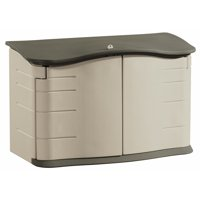 Rubbermaid Horizontal Outdoor Resin Storage Shed, Olive & Sandstone