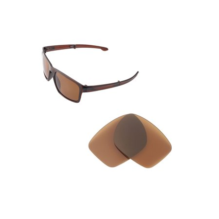95abc192b0 Walleva - Walleva Brown Polarized Replacement Lenses for Oakley Sliver F  Sunglasses - Walmart.com
