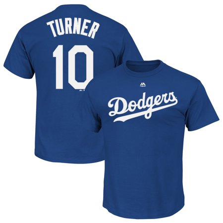Justin Turner Los Angeles Dodgers Majestic Official Name & Number T-Shirt - - Bars In Los Angeles For Halloween
