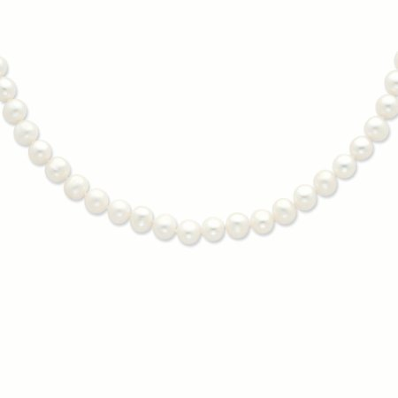 925 Sterling Silver 9mm White Freshwater Cultured Pearl Chain Necklace Pendant Charm Fine Jewelry Gifts For Women For Her - image 5 of 7