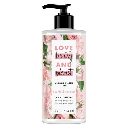 (2 pack) Love Beauty and Planet Bountiful Bouquet Hand Wash, Murumuru Butter & Rose, 13.5 Oz