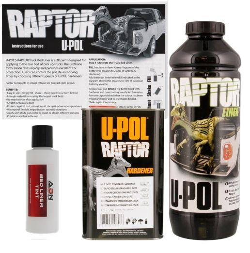 U-POL Raptor GM White Spray-On Bed Liner 1 Liter Upol